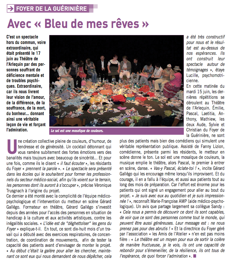 Atelier-théâtre de la Guérinière (Foyer de vie pour adultes handicapés)